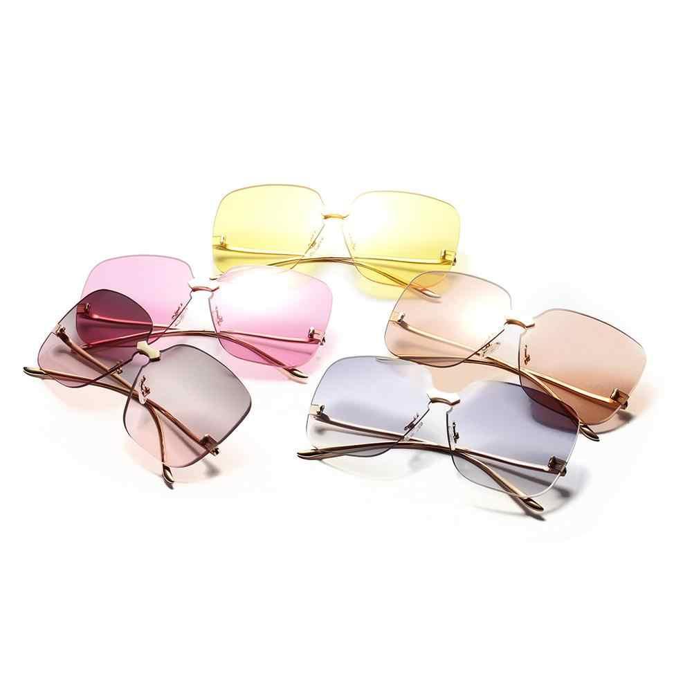 Border Less Солнцезащитные очки женские желе цвет океан шт модные простые