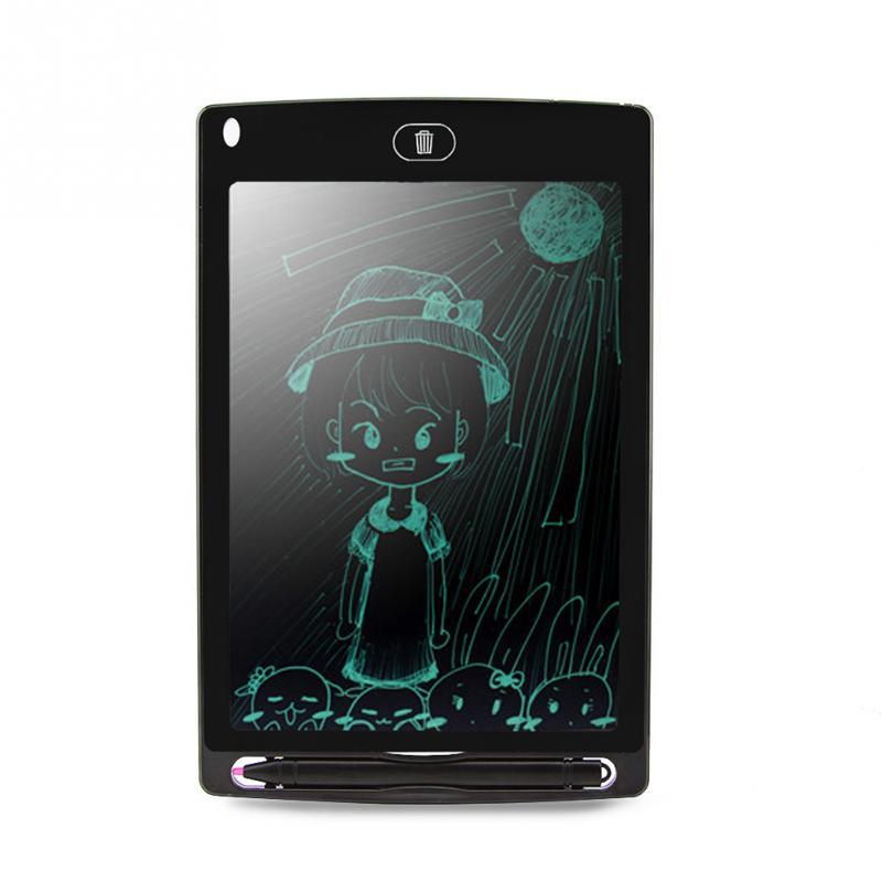 8,5 pulgadas portátil inteligente LCD escritura tableta electrónica Bloc de notas dibujo gráficos tableta tablero con lápiz óptico con batería CR2020