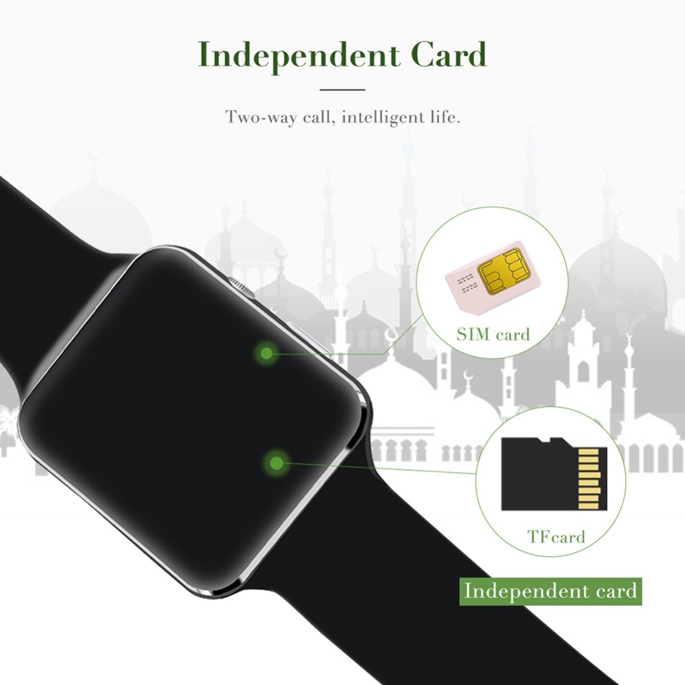Muslim Pilgrimage SmartWatch Direction Time Reminder Location Mekka Kaaba Multi-functional Smart Watch Wristband