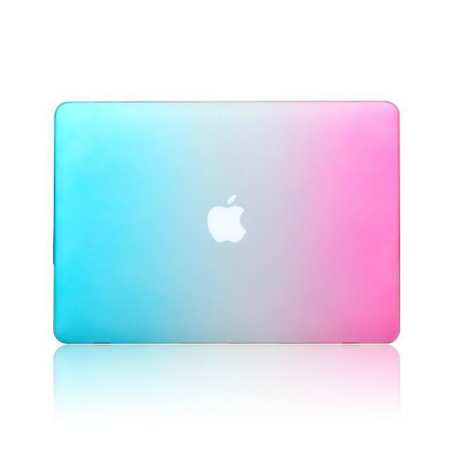 Keyboard Cover Screen Protector Rainbow Blue Pink Color Grant Mix Colors Matte Laptop Case For Macbook Pro 13 3 In Bags Cases From