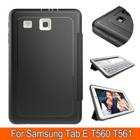Leather+Hybrid Hard Plastic Heavy Duty Shockproof Dual Layer Rugged Armor Back Cover Case For Samsung Tab E 9.6 T560 T565