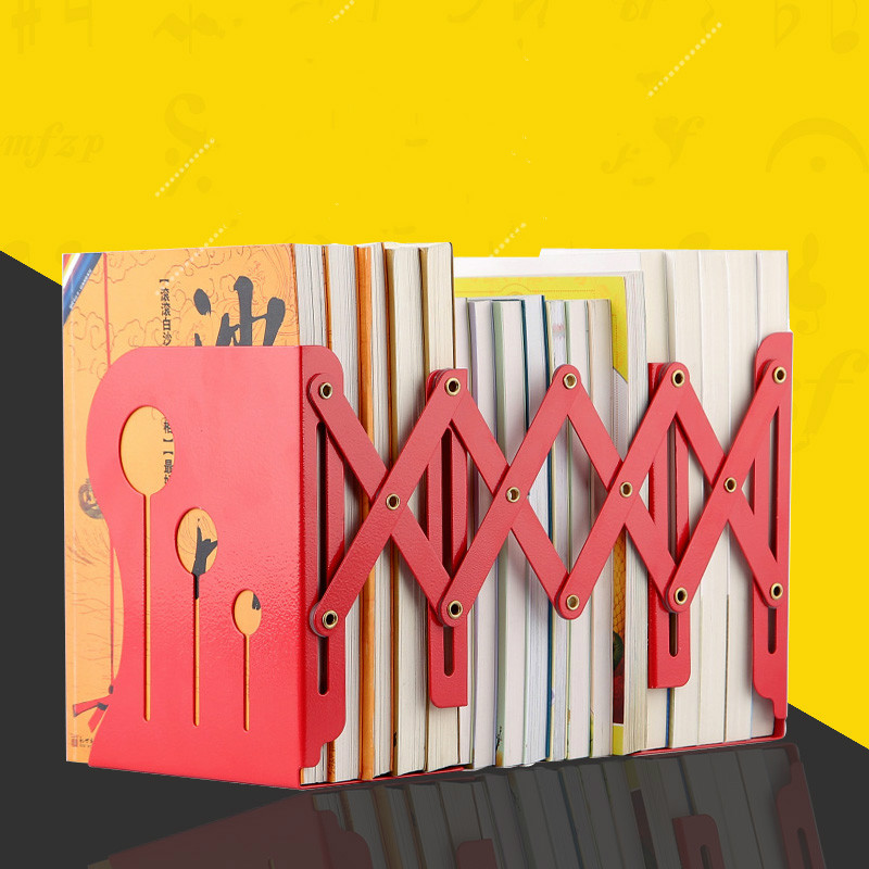 CDZOFFICE reative Bookends telescopic retro Bookends student stationery wood 4 layers bookend frame
