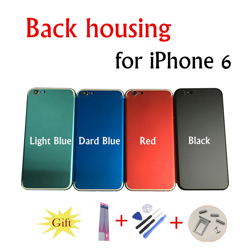 Chassis Back Housing Fundas for iPhone 6 A1586 A1549 Battery Cover Coque+LOGO& Buttons&Sim Tray+Sticker+Custom IMEI Middle Frame
