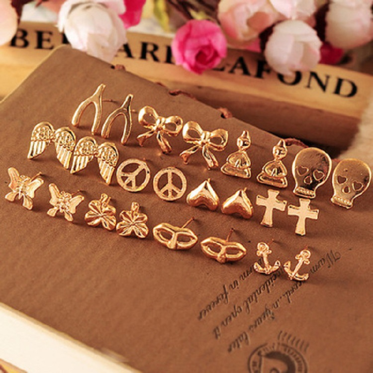 free shipping hot sale lowest price high discount for earring 2015 fashion gold Studs Earrings earrings for women