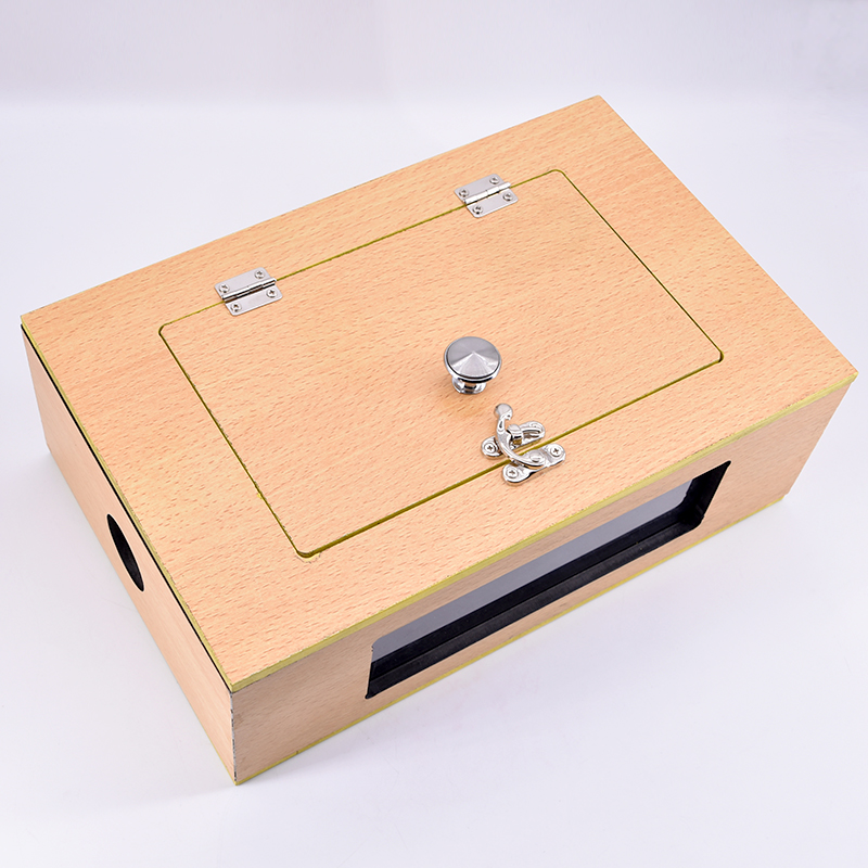 See Thru Tip - Over Box (Wooden) Dove Box Flip Over Vanish Small Animal Box Magic Tricks Magician Stage Illusions Gimmick Props