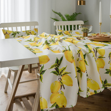цена Simanfei Lemon Print Decorative Linen and Cotton waterproof Table Cloth Tablecloth Rectangular Table Cover  Home Hotel Textile