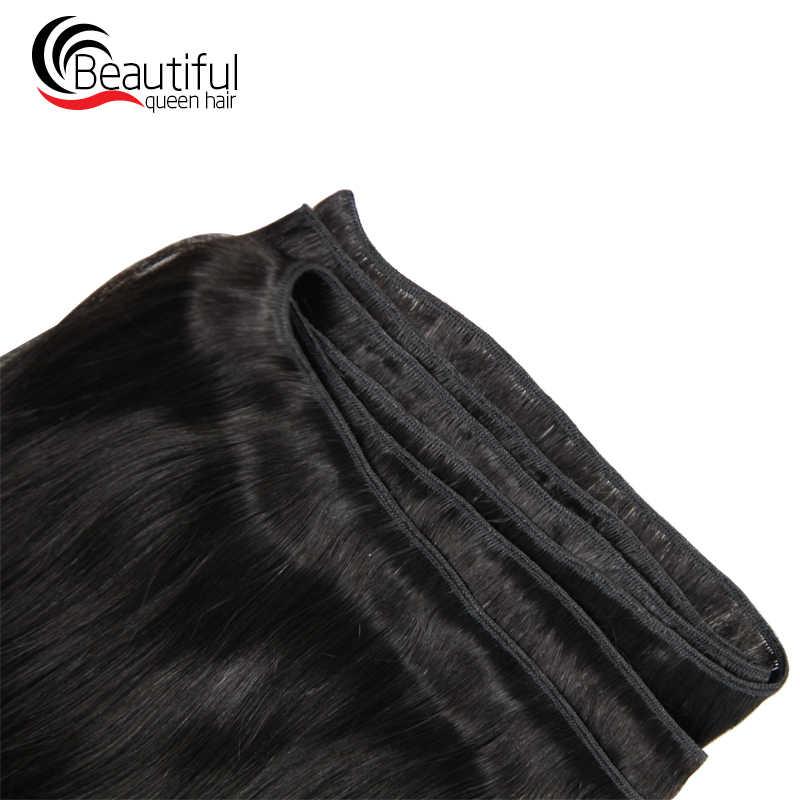 Hermosa reina pelo brasileño pelo humano recto 4 paquetes cabello humano 100% Remy tejido Color Natural 10-30 pulgadas envío Gratis
