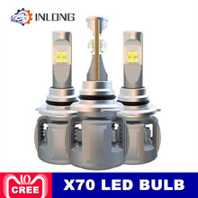 INLONG X70 H4 H7 H1 9005 9006 Car LED Headlight Bulb H11 H8 D1S D2S D4S HP Led Lamp Chip 120W 15600LM Headlamp Fog Lights 6000K(China)