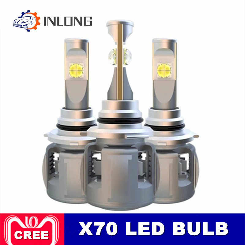 INLONG X70 H4 H7 H1 9005 9006 Car LED Headlight Bulb H11 H8 D1S D2S D4S HP Led Lamp Chip 120W 15600LM  Headlamp Fog Lights 6000K
