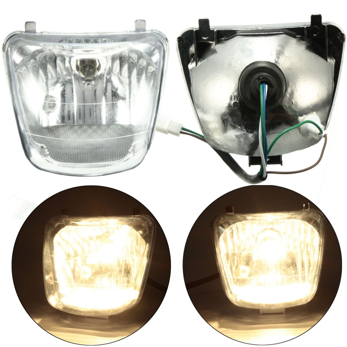 2016 Newest 50cc 70cc 90cc 110cc ATV QUAD Front Headlight Assembly For SUNL for COOLSTER/TAOTAO ...