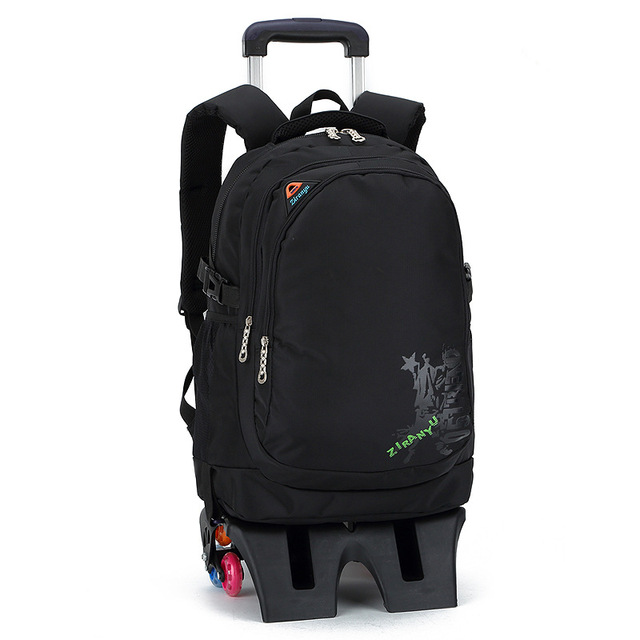 3813d40045b Children School Bags with 3 Wheels Child Climb Stair Trolley Backpack Kids  Wheeled Bag Boys Girls Bookbag Removable Back Pack