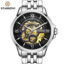 STARKING Luxury Watch Men Skeleton Automatic Mechanical Watches China Famous Brand Stainless Steel Watch Relogio Masculino