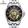 STARKING Luxus Uhr Männer Skeleton Automatische Mechanische Uhren China Berühmte Marke Edelstahl Uhr Relogio Masculino-in Mechanische Uhren aus Uhren bei
