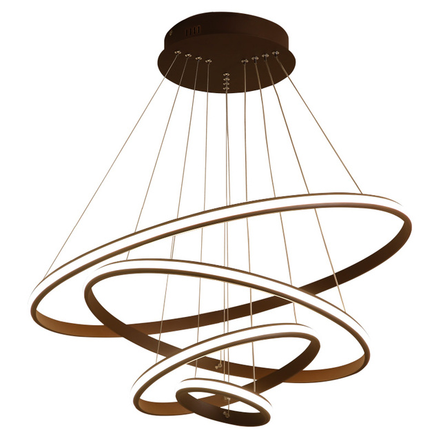 Post modern brief ring pendant lights pendant lamp creative metal and acrylic circular lighting fixture LED Decoration lampe