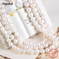 Ataullah Classic Romantic Maxi Necklace Natural Freshwater Pearls Statement Necklace For Women Collier Colar Gift For