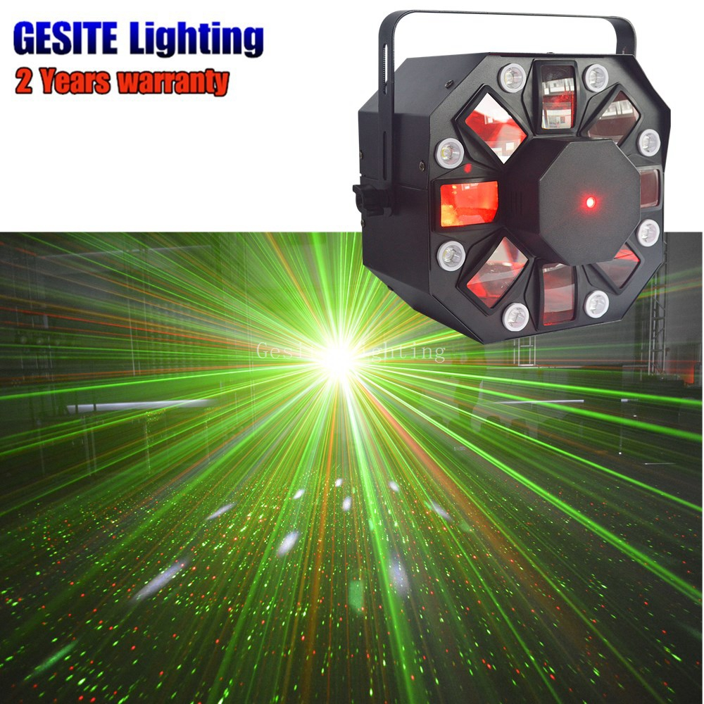 4pcs/lot Colony Stage Machine laser Rotating Derby Effect Scanner 3W R/G/B/W/A LED