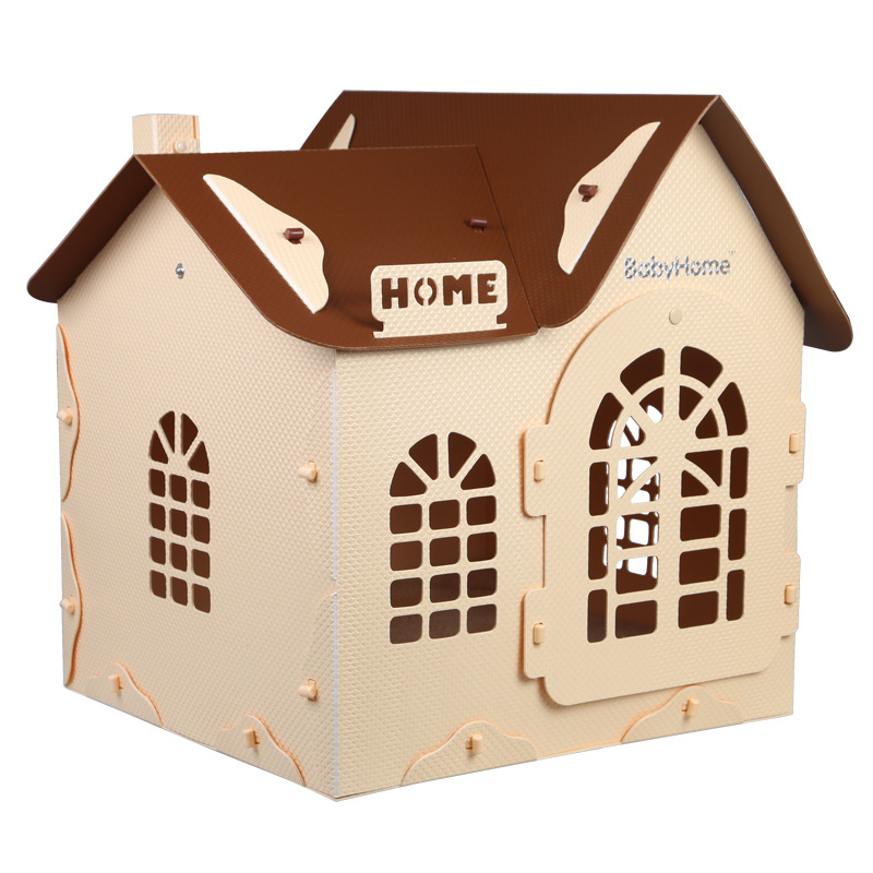 Pet Dog House New 2018 Fold Washable Teddy Dog Chihuahua Folding Assembly Bed Pet Products Cat Beautiful House Accessories