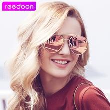 Мода классический технологических cat eye солнцезащитные очки женщины luxury brand металлический каркас vintage солнцезащитные очки женщины мужчины зеркало очки