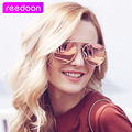 Tecnológica Del Ojo de Gato gafas de Sol de Mujer de Marca de Lujo Clásico de la moda de Metal Marco de La Vendimia Gafas de Sol Mujer Hombre Espejo Gafas