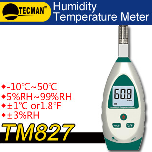 TECMAN TM827 Temperature and humidity meter tester measuring