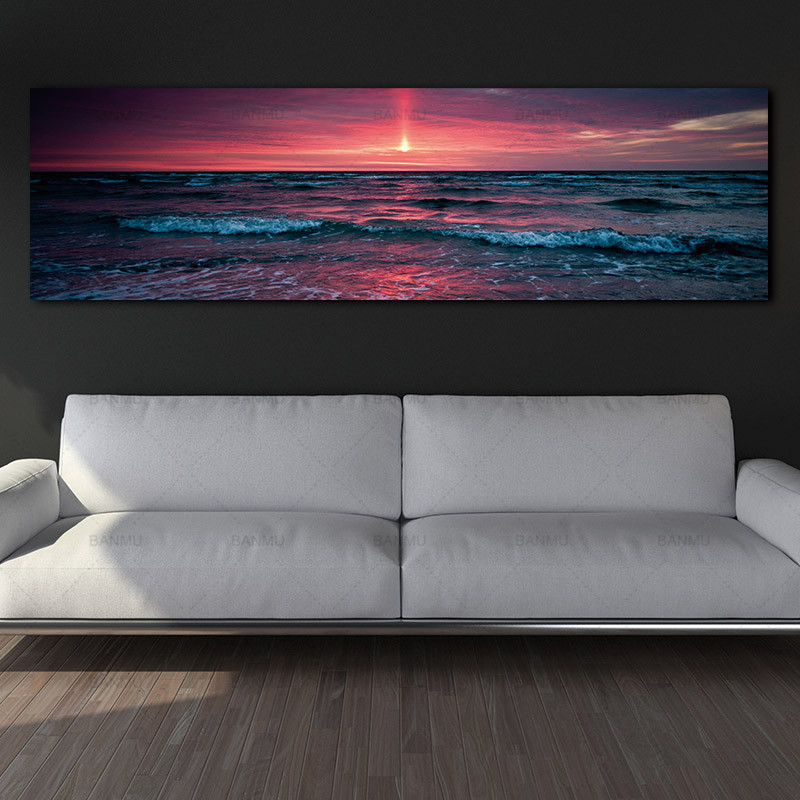 Painting Art Picture Posters Wall-Art Art-Print Canvas Sea-Wave Home-Decor Landcape