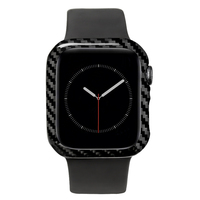 MCASE 2019 Luxury Ultra Thin Real Carbon Fiber for Apple Watch Series 4 40mm Slim Snug Cover Frame
