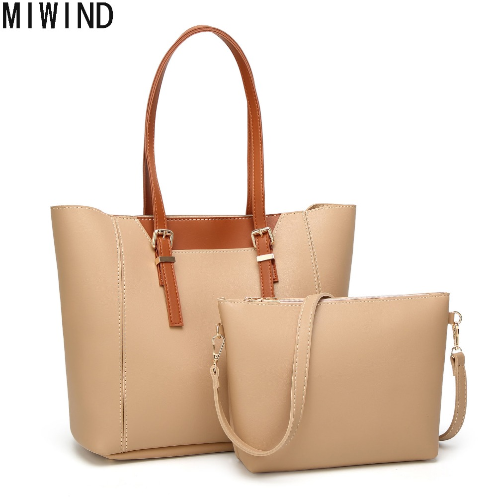 MIWIND Brand Fashion Women Handbag Large Capacity Shoulder Bags 2017 New Designer Casual Ladies Tote High Quality PU Leather 02 reprcla brand designer handbags women composite bag large capacity shoulder bags casual ladies tote high quality pu leather page 7