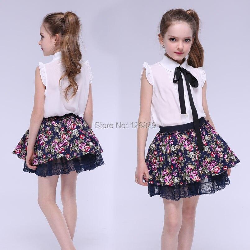 0651e3a6 Aliexpress.com: Comprar Faldas tutú para niñas faldas con estampado Floral  ropa de verano para niñas y niños faldas de encaje con cintura elástica 4 5  7 9 ...