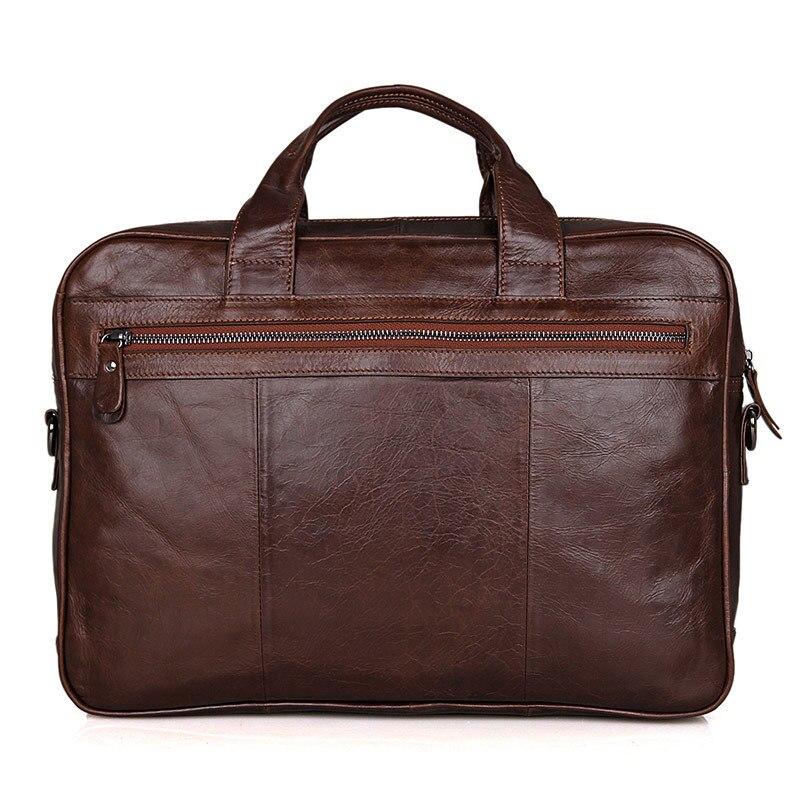 Männlichen mann Umhängetasche Echte Männer Aktentasche Echtem 14 Büro ''laptop M7005 Vintage Business Nesitu Schokolade Portfolio Leder wqOqa