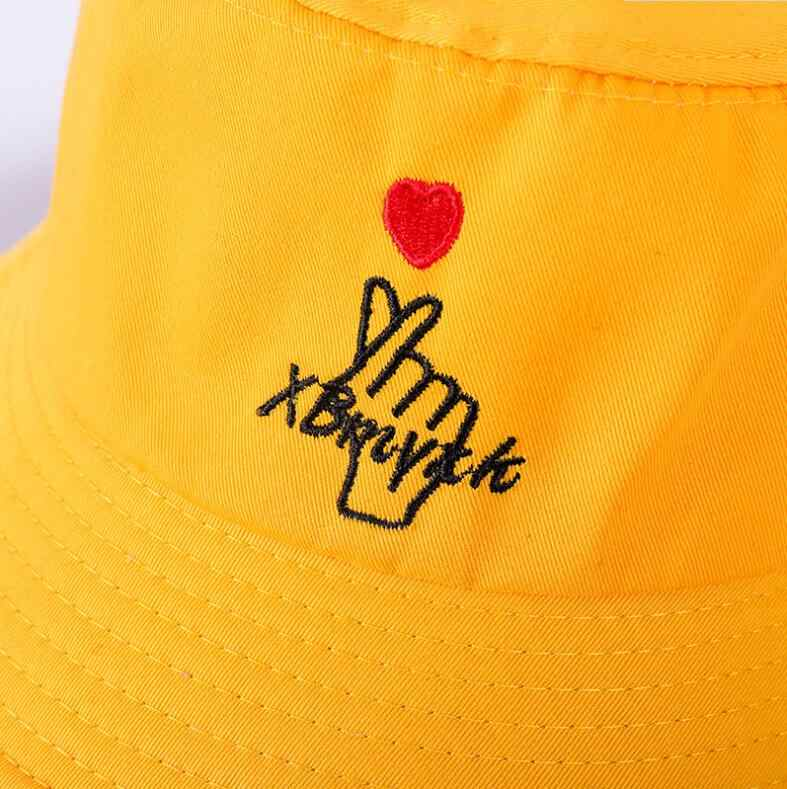 99504048 ... Love heart embroidery bucket hat for men women hip hop fisherman hat  Adult lover's panama bob