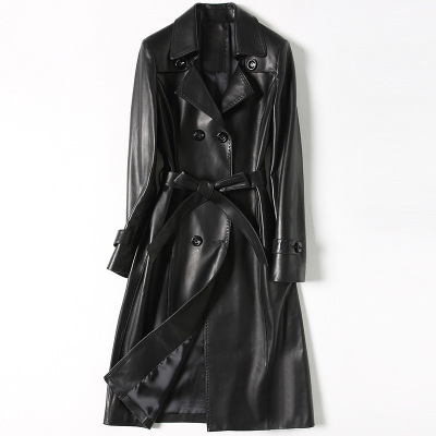 2018 New Fashion Genuine Sheep Leather   Trench   H63