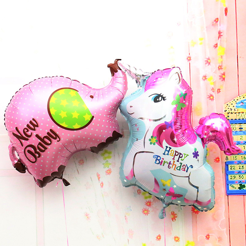 80cm giant balloon Elephant unicorn foil balloons classic toys happy birthday Ba
