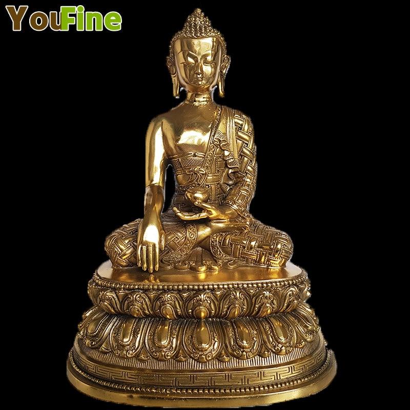 Antique Tibetan buddha Bronze Buddha Statue Decoration metal handicraft