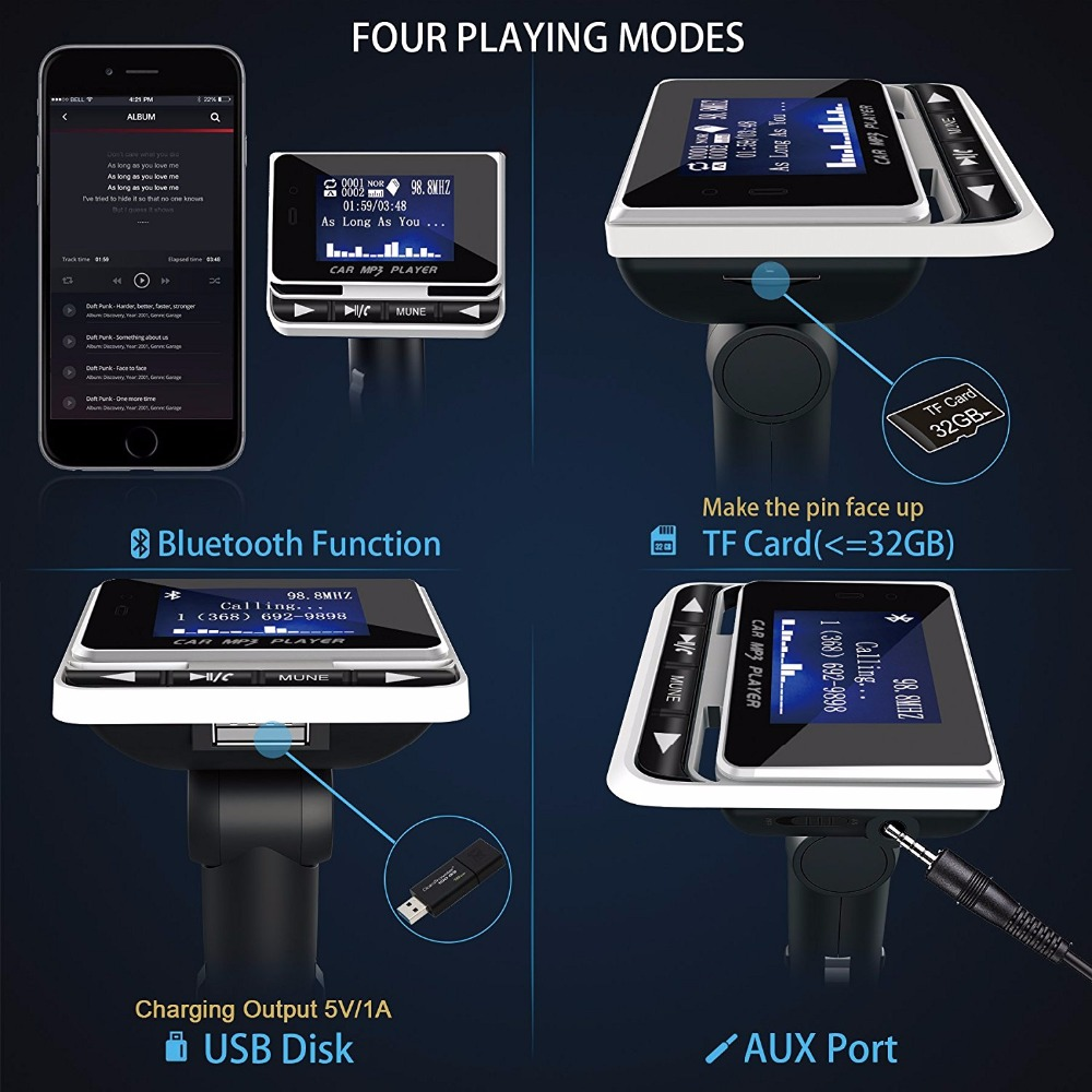 2019 jinserta bluetooth car mp3 player wireless fm. Black Bedroom Furniture Sets. Home Design Ideas