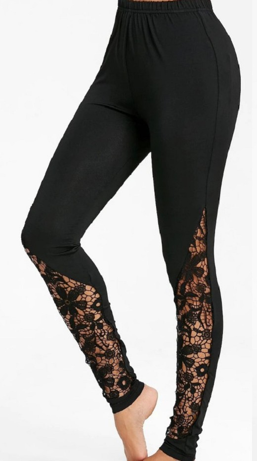 leggings plus size women gothic sexy legging punk fashion lace christmas 2019 black clothes patchwork casual activewear mom