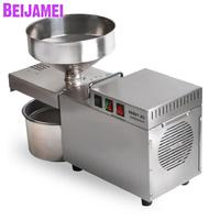BEIJAMEI High Quality Automatic Seed oil extractor machine Cold oil pressed expeller Industrial Peanut oil press making