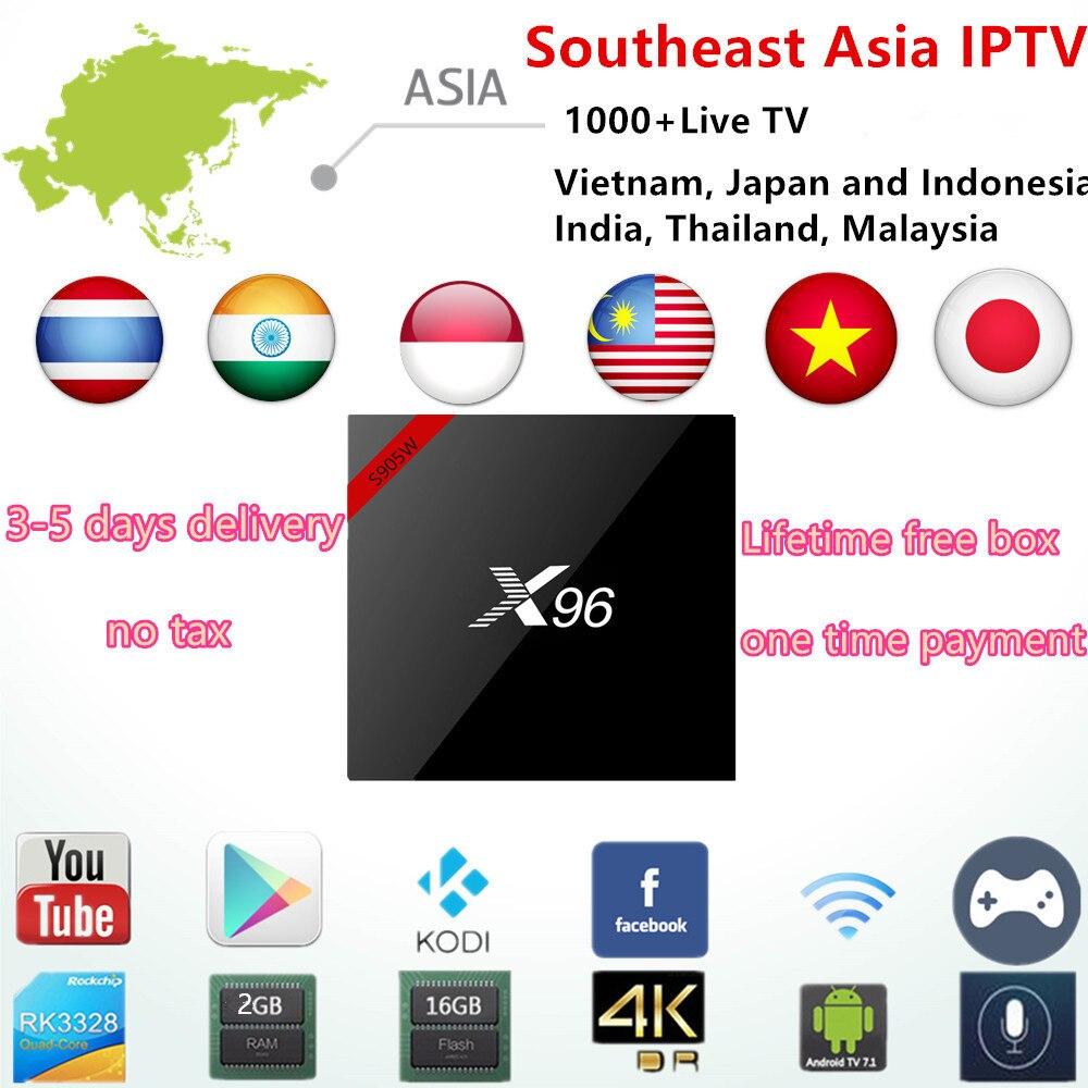 Без ежемесячных Feeb Индия IPTV Box подписки 1000 + арабский/Япония/Малайзия/Вьетнам/Таиланд каналы Android IP ТВ Smart set top