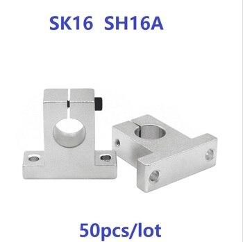 50pcs/lot SK16 SH16A 16mm linear bearing rail linear shaft support bearings CNC 3d printer