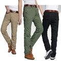 Pantalones de carga de peso medio Regular venta directa vendedora caliente de 2015 Mens militar de algodón Pantalones Hombre Chinos casuales para Hombre 801