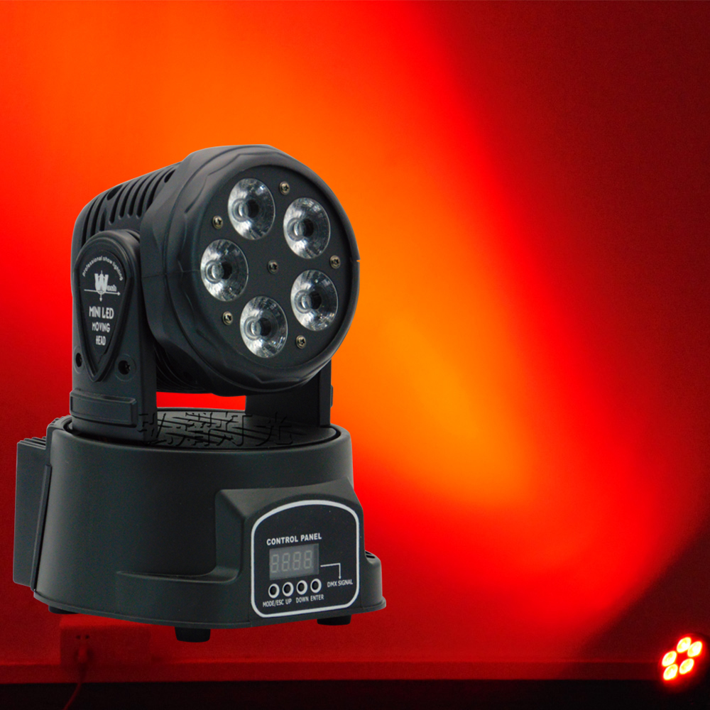 High Quality LED Mini Moving Head Wash 5X18W RGBWA UV 6in1 DMX 10/15 Channels DJ Nightclub Party Concert Stage Lighting free shipping disco stage club music dance 7x18w led mini moving head light rgbwa uv 6in1 bright lumiere dmx party dj lighting