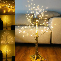 1 Pcs Simulation Tree LED Lights Decoration Christmas Party Home Festival Indoor Outdoor Drop
