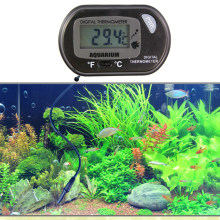 Digital Thermometer Auto LCD Display Sensor Wired for Aquarium Fish Tank Aquarium Accessories Electronic Aquarium Thermometer(China)