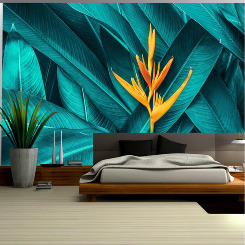 Tree Wallpaper Mural Tropical Rain Forest Plant New Wallpaper Sitting Room Furniture Boys Bedroom Wallpaper Home Decor Ideas tropical rain forest pastoral plant forest pattern wallpaper living room sofa television background wallpaper decoration