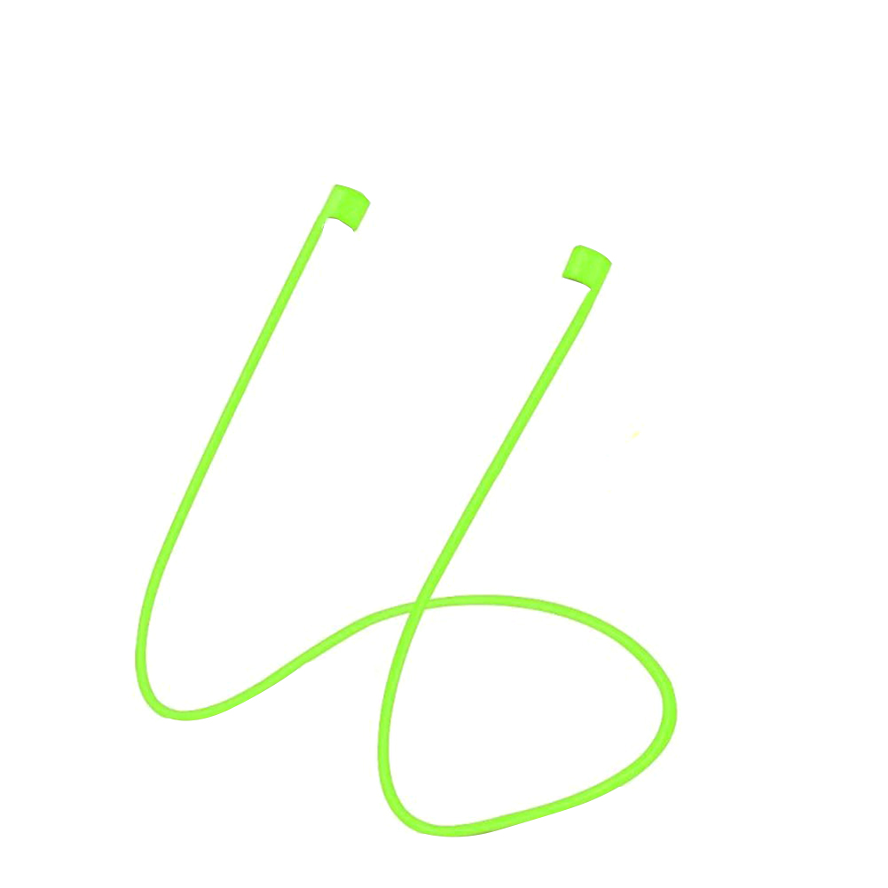 Hot Sale Colorful Luminous Anti-Lost Earbuds Cable Cord Strap Loop for Apple Airpods elastic Green