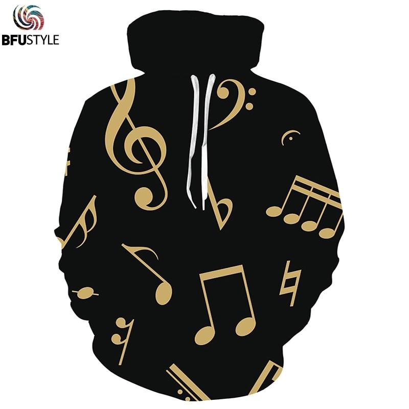 Music Note 3D Print Piano Hoodies Sweatshirts Men Women 2019 Casual Long Sleeve Tops Men Fashion Hip Hop Streetwear