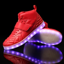 MR.MADING Men LED Shoes New Winter Spring Autumn Boots Style Led USB Wholesale Shoes Men Comfortable Shoes Men Soft Out sole