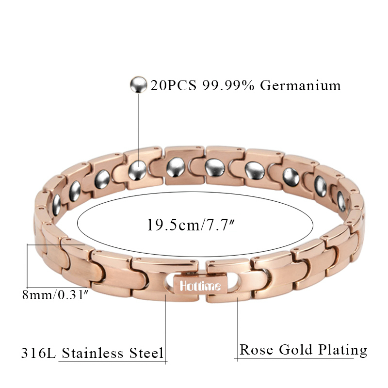 Hottime Bio Magnetic Stainless Steel Health Care Magnetic Therapy Bracelet 20 PCS Full 99 99 Germanium