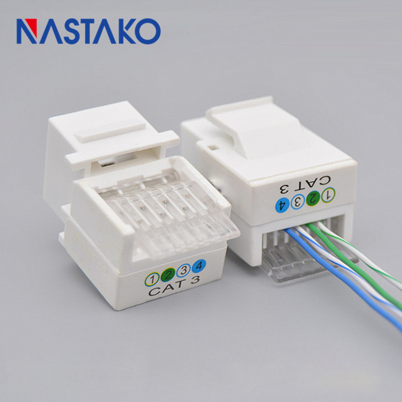 NASTAKO 6P4C CAT3 Tool free telephone module Keystone RJ11 Connector