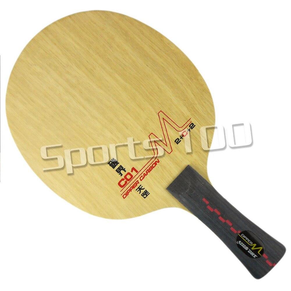 DHS DM C01 Table Tennis PingPong Blade Shakehand FL Long Handle