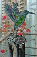 Sounding Brass Hummingbird Wind Chime Flying Bird Windchimes Bell Hanging Decoration Metal Verdigris Yard Garden Porch Outdoor